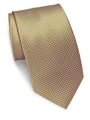 Check-Printed Silk Tie