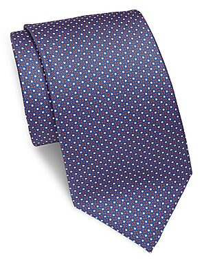 Dot-Printed Silk Tie