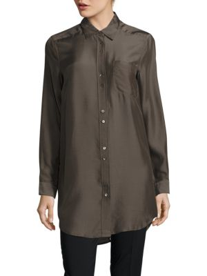 BUTTON-DOWN POINT COLLAR TUNIC