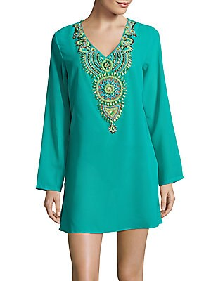 Aruba Long-Sleeve Embellished Tunic