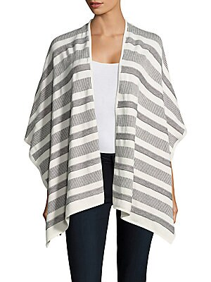 Cotton & Cashmere Asymmetric Wrap