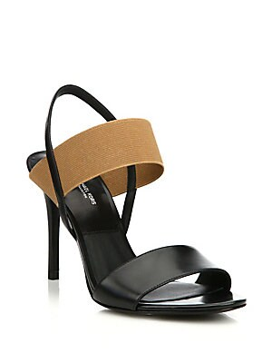 Chantel Runway Leather Slingback Sandals