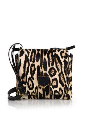 Lockett Small Leopard-Print Calf Hair Crossbody Bag Jimmy Choo