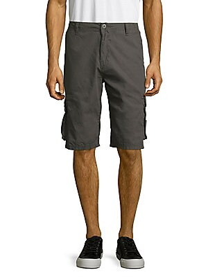 Hatemo Cotton Solid Six-Pocket Shorts