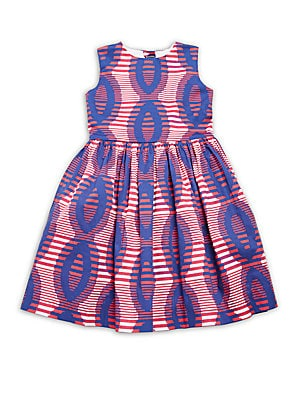 Little Girl's Printed Cotton Party Dress