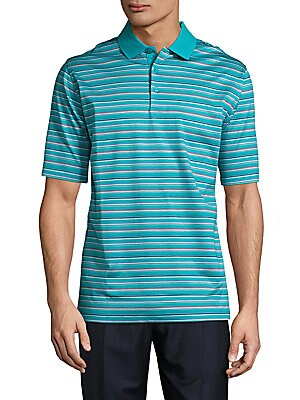 Knit Striped Cotton Polo