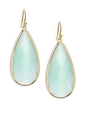 Mint Teardrop-Shaped Drop Earrings