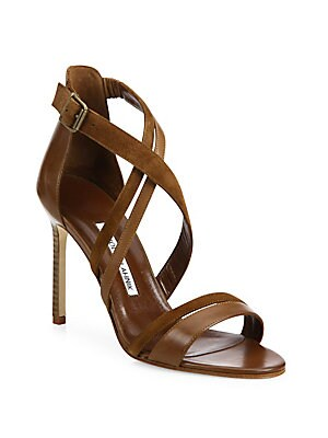 Liline Leather & Suede Strappy Sandals