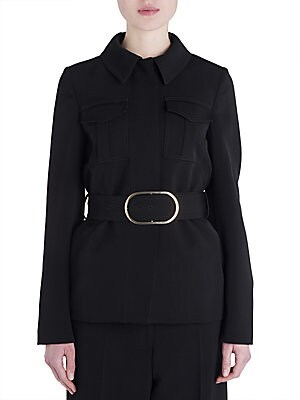 Dry Wool Belted Jacket