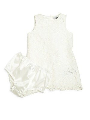 Baby's Two-Piece Lace Dress & Bloomers Set
