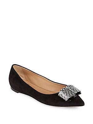 Mimi Leather Ballet Flats