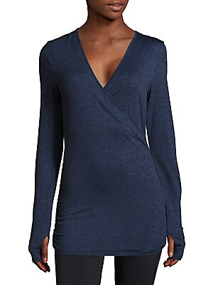 Wrap-Front Marled Top