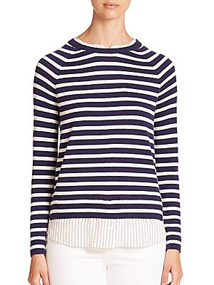 Zaan E Striped Layered Sweater