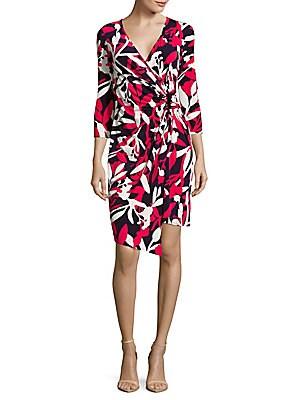 Floral-Print Wrap-Front Dress