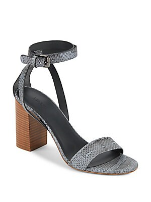 Farley Python-Embossed Sandals