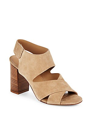 Farrah Leather Crisscross Sandals