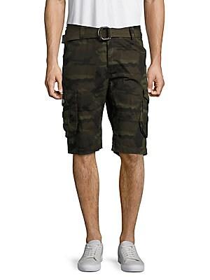 Camo-Printed Cotton Shorts
