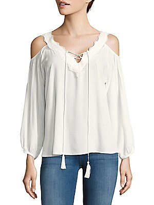 Cold-Shoulder Crisscross Top