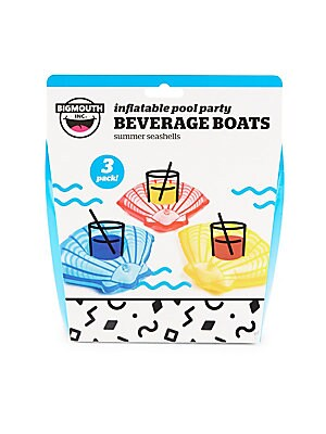 Three-Pack Inflatable Seashell Beverage Boats