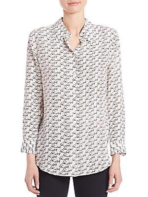 Kate Moss For Equipment Reese Autograph Silk Shirt