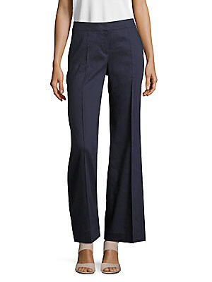 lafayette 148 new york female kenmare linenblend bootcut pants