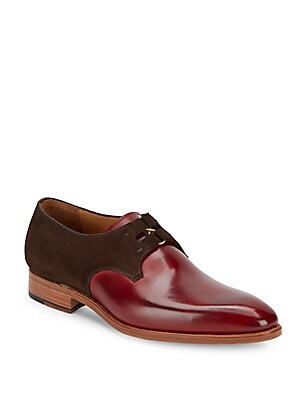 Paolo Almond-Toe Leather Oxfords