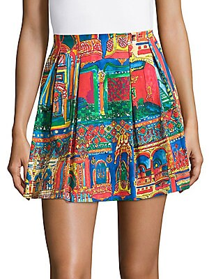 Connor Printed Pleated Skirt