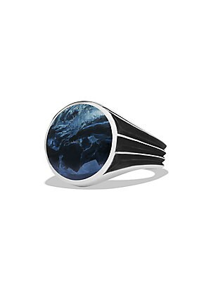 Knife Edge Pietersite Signet Ring