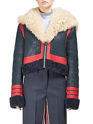 Grosgrain Stripe Shearling Jacket