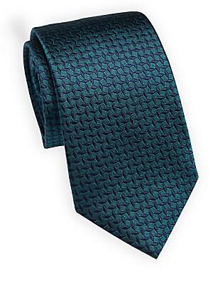 Tilted Striped Silk Tie