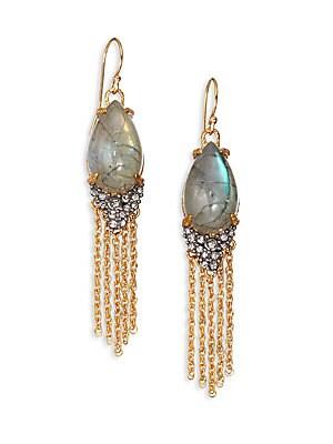 Elements Labradorite & Crystal Drop Earrings