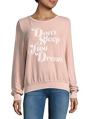 Letter-Printed Roundneck Sweatshirt