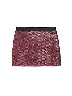 Little Girl's Metallic Jacquard Skirt