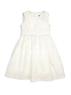 Little Girl's Satin Organza Bow Back Cocktail Dress