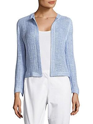 Ragusa Cotton & Silk-Blend Open-Front Jacket
