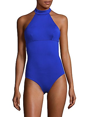 Heather One-Piece Halterneck Swimsuit