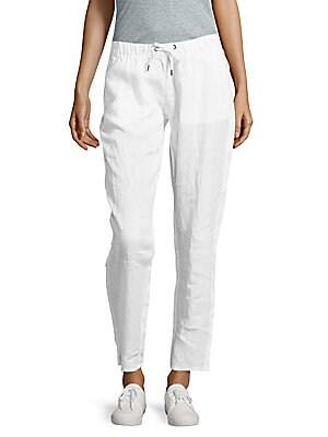 Ella Solid Linen Pants