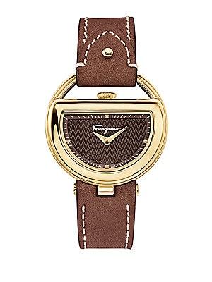 Gold-Tone Half Moon Watch