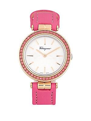 Sparks Topaz & Sapphire Crystal Watch