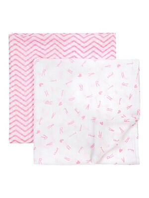 Printed Swaddle Blankets- Set of 2