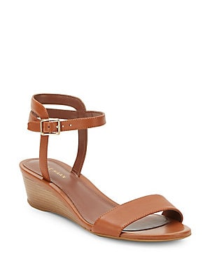 cole haan female elsie wedgeheel slide sandals