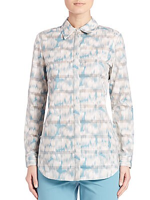 Brody Printed Cotton Blouse