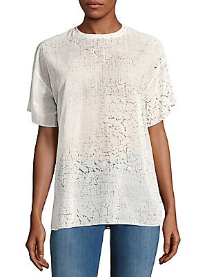 Cotton Printed Drop-Shoulder Top