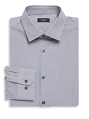Dover Cotton Striped Dress Shirt