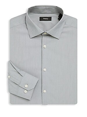 Dover Cotton Long-Sleeve Dress Shirt