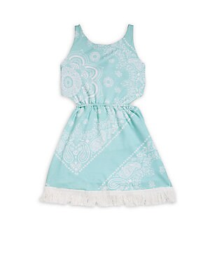 Girl's Life's A Beach Paisley Printed Sleeveless Dress