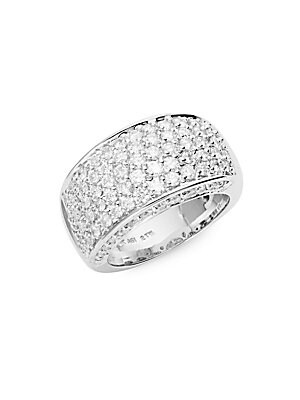 Click here for 14K White Gold Diamond-Encrusted Ring prices