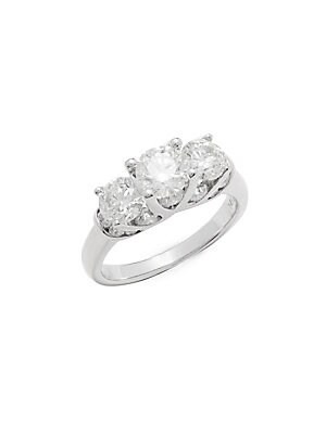 Click here for 3.0 TCW Diamond & 14K White Gold Ring prices