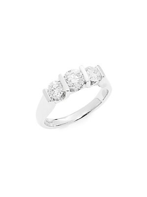 Click here for Diamond & 14K White Gold Band Ring prices