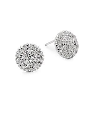 Diamond & 14K White Gold Earrings
